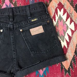 Distressed Vintage Wrangler Cut Off Jean Shorts